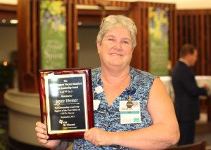 Diemer Wins Infirmary's Blandford Leadership Award