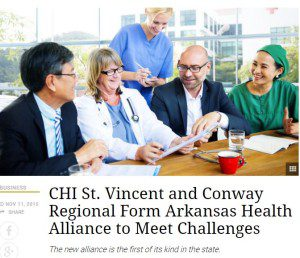 Media: CHI St. Vincent, Conway Regional Form Alliance