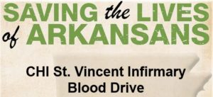 Arkansas Blood Institute Needs Donors-Infirmary Blood Drive March 16-17