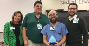 Heath Lafavors Recognized as Service Hero at Infirmary
