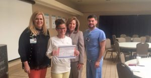 Cassie Bias Recognized as Service Hero at Infirmary