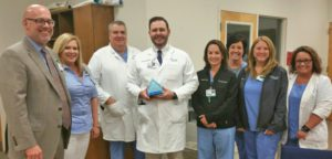 Dr. Thurston Bauer Recognized as Service Hero at the Infirmary