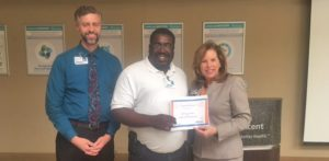 Mark Johnson Recognized as Service Hero at Infirmary