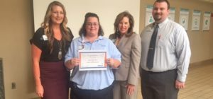 Sylvia Holeman Recognized as Service Hero at Infirmary