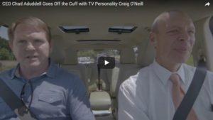 THV11 Anchor Craig O'Neill Gives CEO Chad Aduddell a Lift