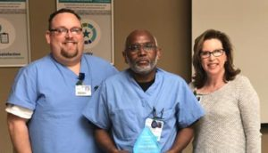 Arthur Banks Recognized as a Service Hero at Infirmary