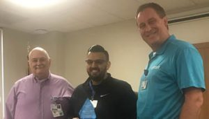 Rohan Patel Recognized as a Service Hero at North