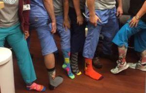 Ortho Team Gets Early Start on Crazy Socks