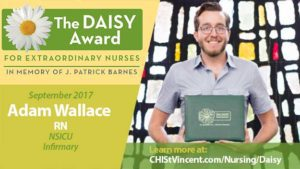 Adam Wallace Receives September 2017 Daisy Award