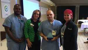 Brad Wirges Recognized as Service Hero at Infirmary