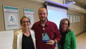 Chad Krebs Recognized as Service Hero at Infirmary