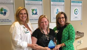 Kelley Vanskiver Recognized as Service Hero at Infirmary