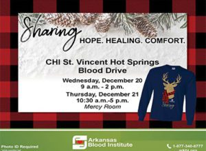 Hot Springs Blood Drive: Sharing Hope, Healing, Comfort