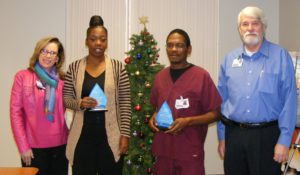 Willie Medlock and Carla Bankston Named Service Heroes at North