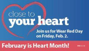 Wear Red Day: Friday, Feb. 2