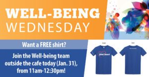 Well-being Wednesday: Sign up for the Step Challenge & Receive a Tshirt!