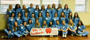 Sweethearts Volunteer at Infirmary, Learn About Stroke & Heart Disease