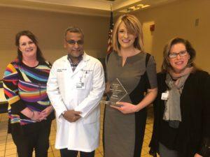 Sarah Johnston Named Service Hero at Infirmary