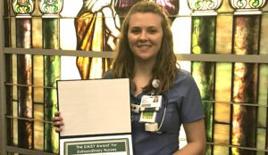 Emily Batterton Receives DAISY Award in Hot Springs