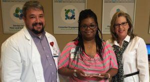 LaQuenta Credit Named Service Hero at Infirmary